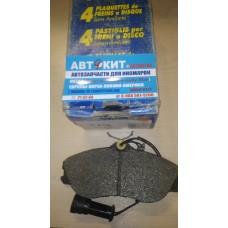 Колодки тормозные, передние AUDI 80 [B4] Avant 3/94-8/95 ,100 [44Q/C3] 2,2/2,3/2,5TDI 8/84-11/90   P419 (027622)