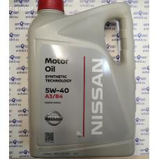 Масло моторное NISSAN Motor Oil SAE 5W40 SN/CF  5 л \\  ke90090042